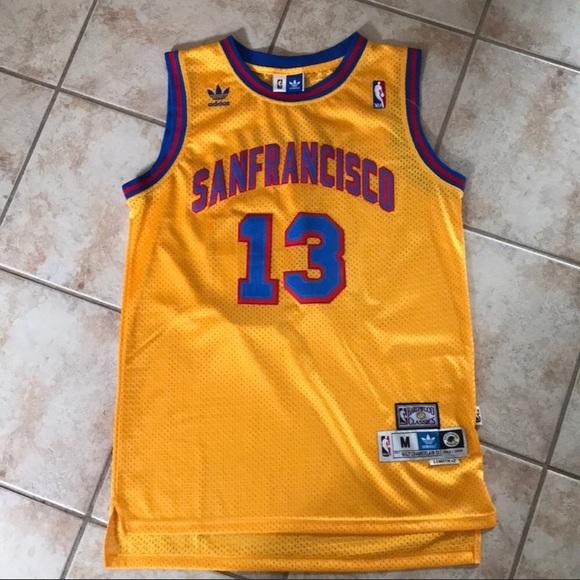 567020b52fe adidas Shirts   San Fransisco Warriors Wilt Chamberlain Jersey ...